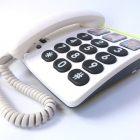 Teléfono fijo teclas grandes y  3 fotos (331-DORO)
