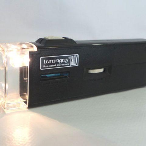 Microscopio bolsillo 30x luz