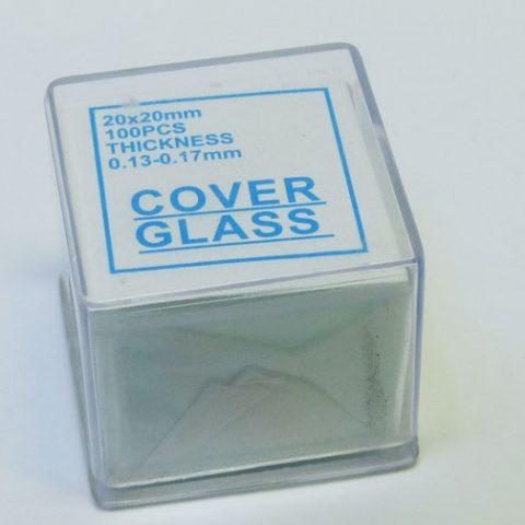 cubreobjeto lámina cristal
